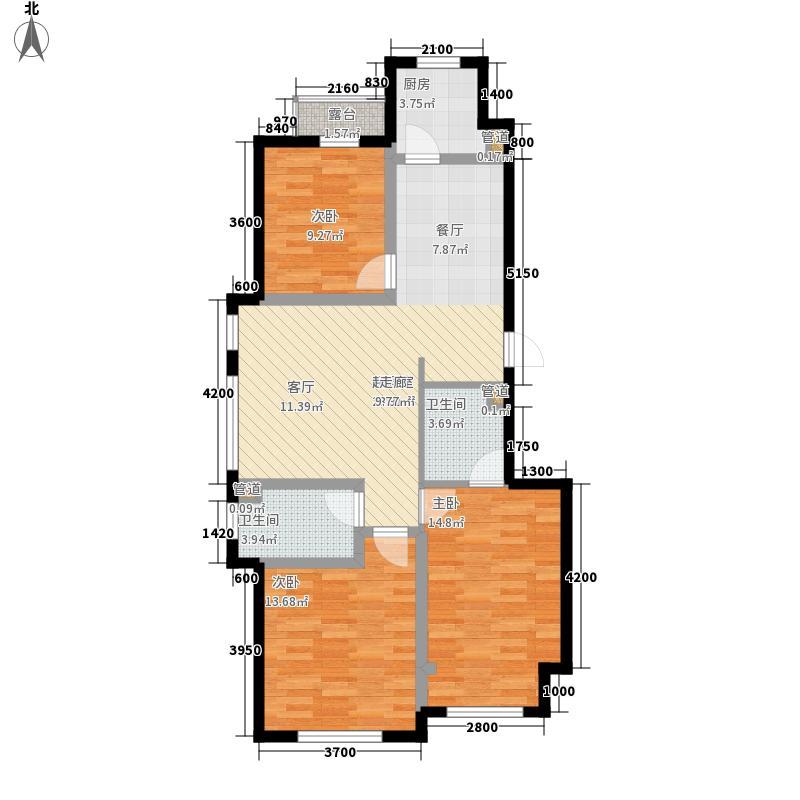 万盛理想国118.09㎡万盛理想国卡梅尔城小高层L户型图户型3室2厅2卫