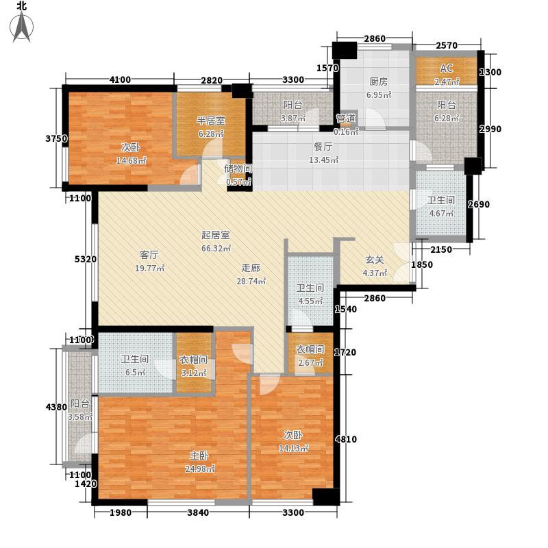 招商钻石山240.00㎡一期16、17#楼标准层A3-7层户型