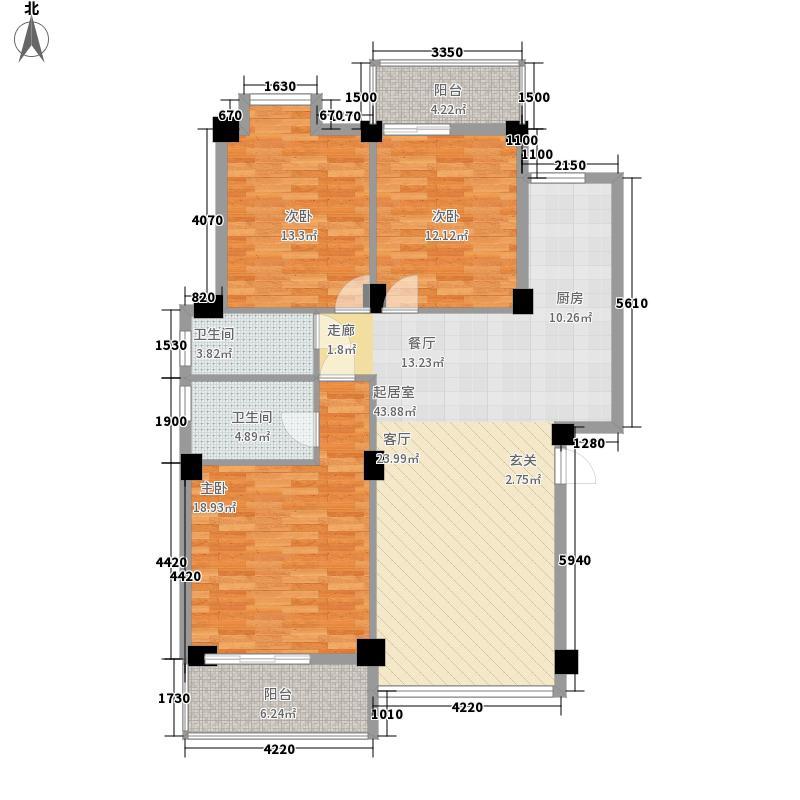 碧园印象桂林126.00㎡23栋A2户型