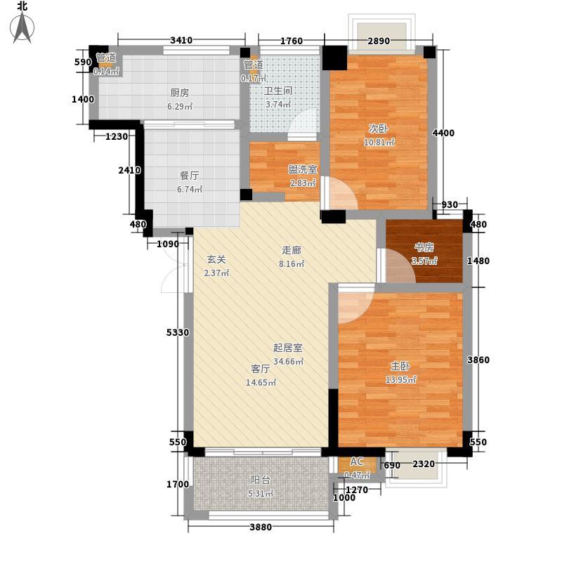 东景公寓92.67㎡M11面积9267m户型