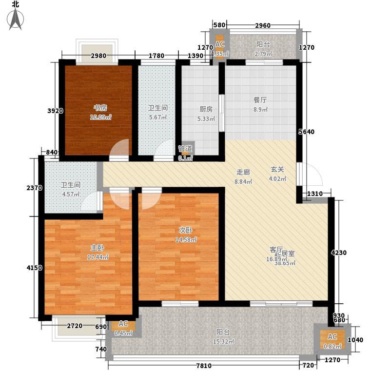 恒润后街公寓131.00㎡3#D面积13100m户型