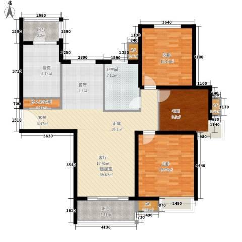 湖山新意3室0厅1卫1厨117.00㎡户型图