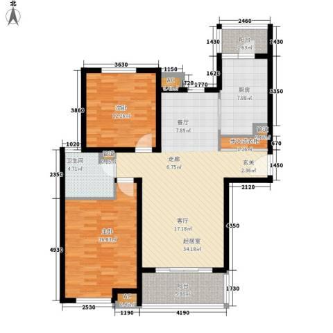 湖山新意2室0厅1卫1厨99.00㎡户型图