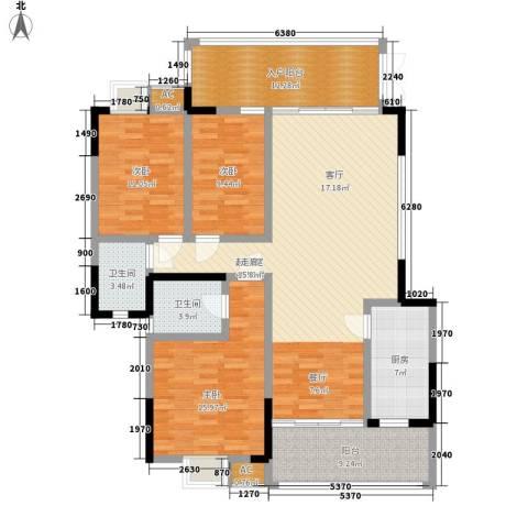 熙岸尚城二期3室0厅2卫1厨145.00㎡户型图