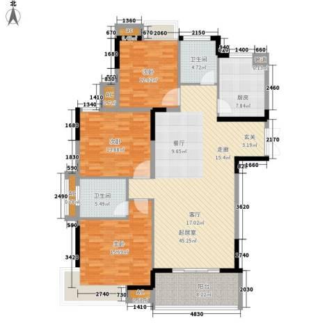 香格里拉3室0厅2卫1厨163.00㎡户型图