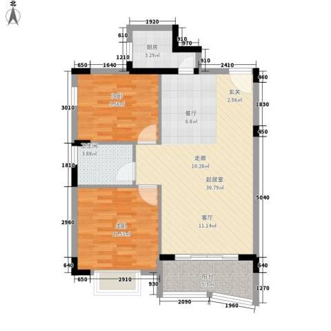 迎春路小区2室0厅1卫1厨90.00㎡户型图
