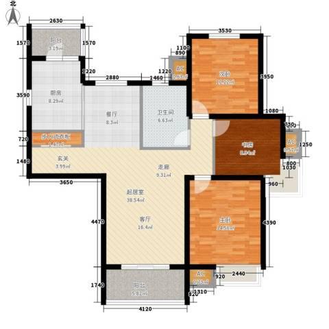 湖山新意3室0厅1卫1厨113.00㎡户型图