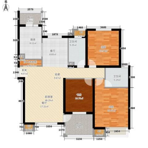湖山新意3室0厅2卫1厨125.00㎡户型图
