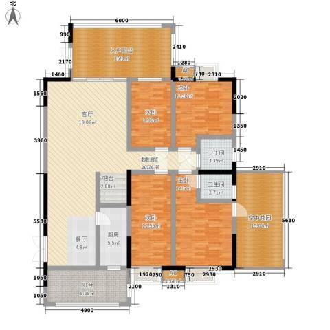 熙岸尚城二期4室0厅2卫1厨212.00㎡户型图