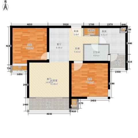 湖山新意2室0厅1卫1厨93.00㎡户型图