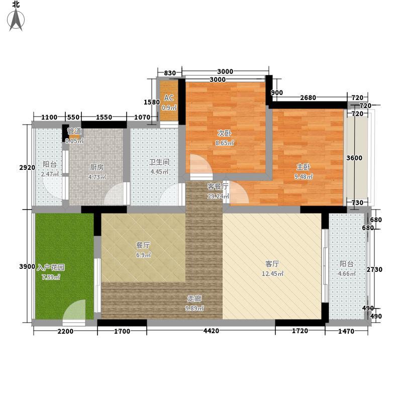 隆鑫国际73.99㎡二期6栋3号房面积7399m户型