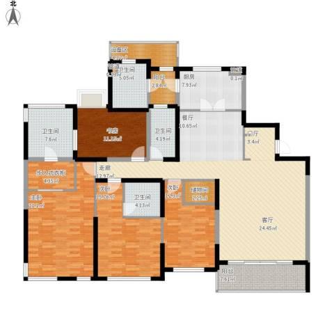 仁恒森兰雅苑二期4室1厅4卫1厨229.00㎡户型图