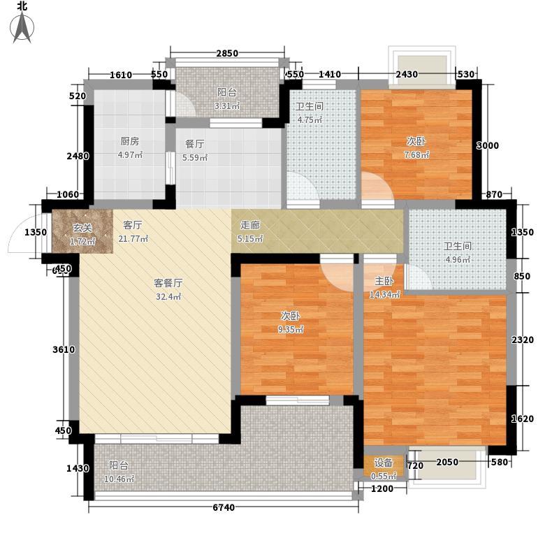 金鞍香海驿96.86㎡5号楼4号房3面积9686m户型