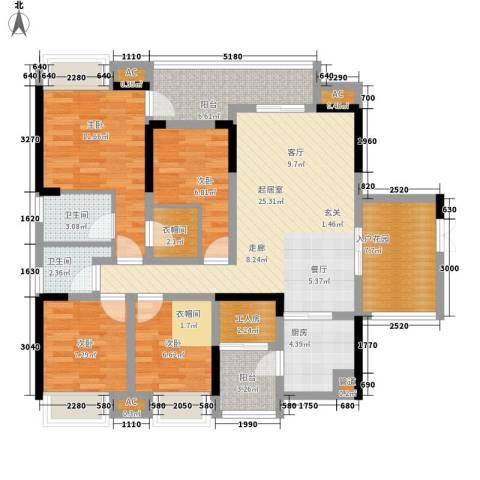 东和院4室0厅2卫1厨137.00㎡户型图
