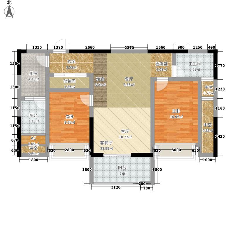 隆鑫国际72.38㎡4号楼2号房面积7238m户型
