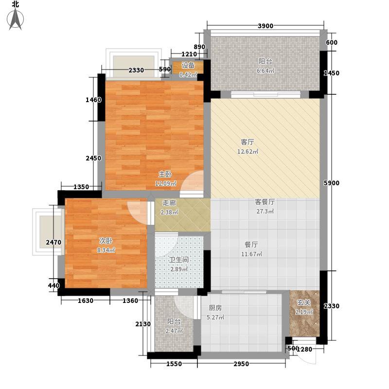 金鞍香海驿68.67㎡5号楼2、3号房面积6867m户型