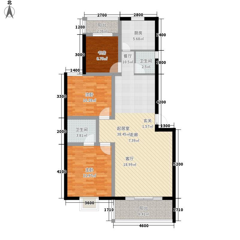 雅馨园112.00㎡三房两厅两卫户型
