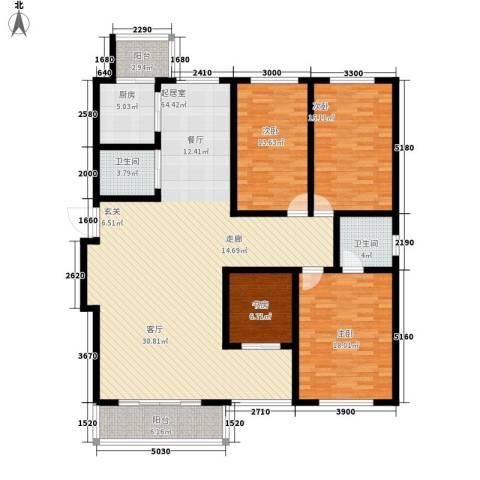 大众花园四期4室0厅2卫1厨142.00㎡户型图
