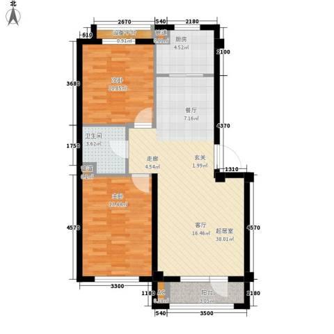 御景城2室0厅1卫1厨85.00㎡户型图