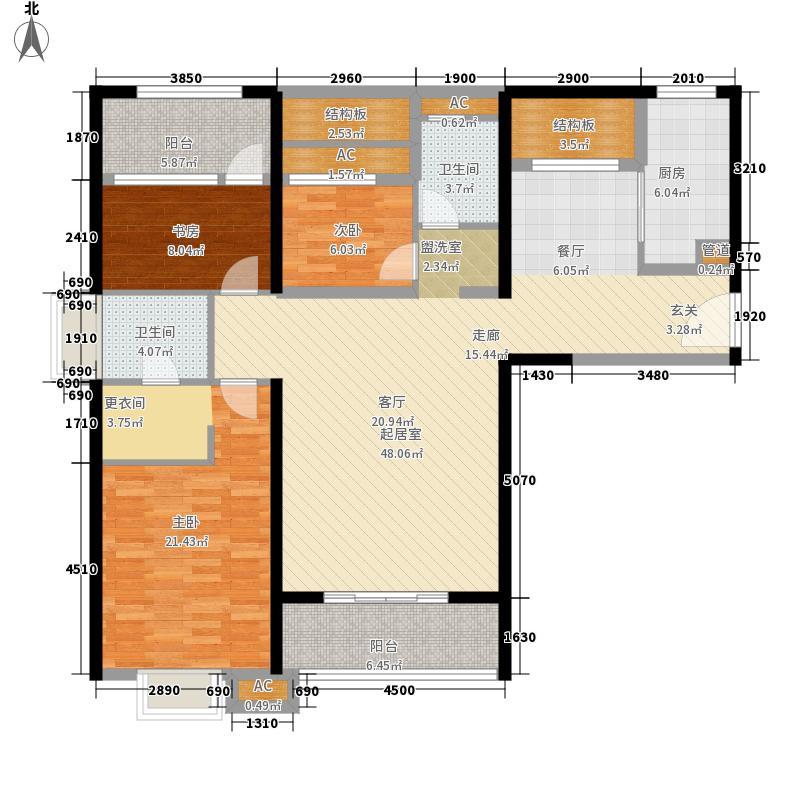 联发杏林湾一号137.00㎡12#、15#楼01户型3室2厅