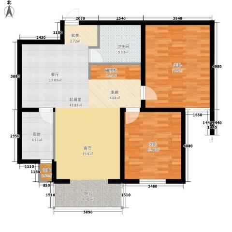 城市花园2室0厅1卫1厨118.00㎡户型图