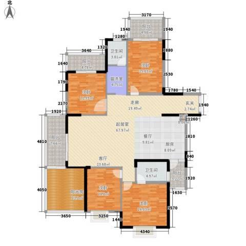 沃邦菁华源4室0厅2卫0厨187.00㎡户型图