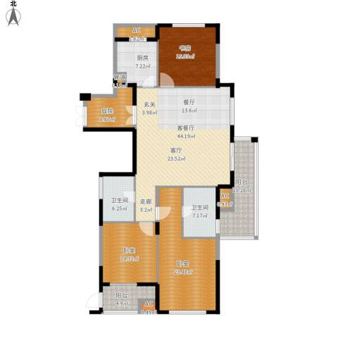 山水名家1室1厅2卫1厨201.00㎡户型图