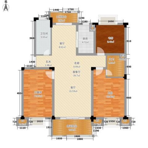 浙水阳光天地3室1厅1卫1厨123.00㎡户型图
