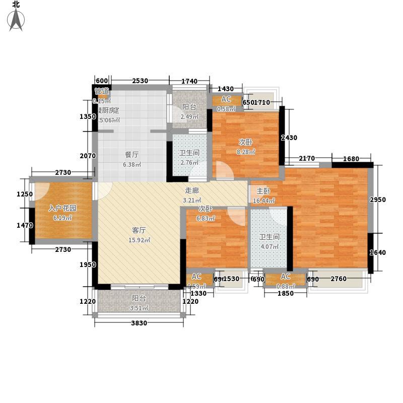 中海金沙馨园97.08㎡1栋01单元面积9708m户型