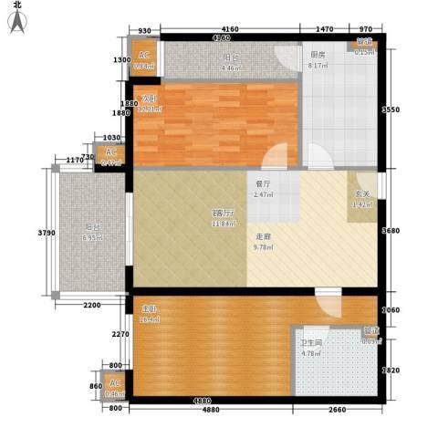 碧玉家园一期2室1厅1卫1厨114.00㎡户型图