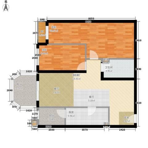 碧玉家园一期2室1厅1卫1厨115.00㎡户型图