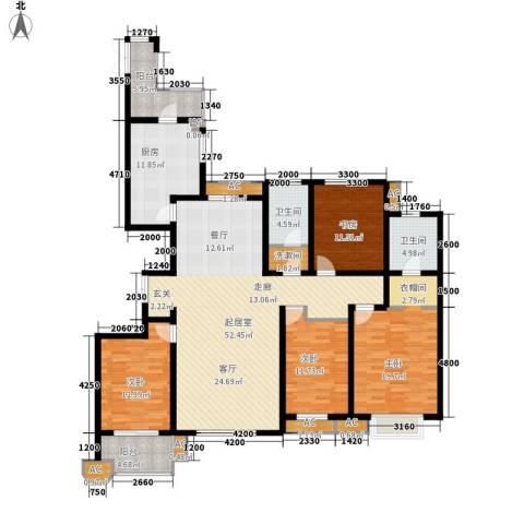 维多利亚时代4室0厅2卫1厨211.00㎡户型图
