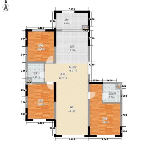 万顺空港融和广场雅仕阁公寓3室0厅2卫1厨151.00㎡户型图