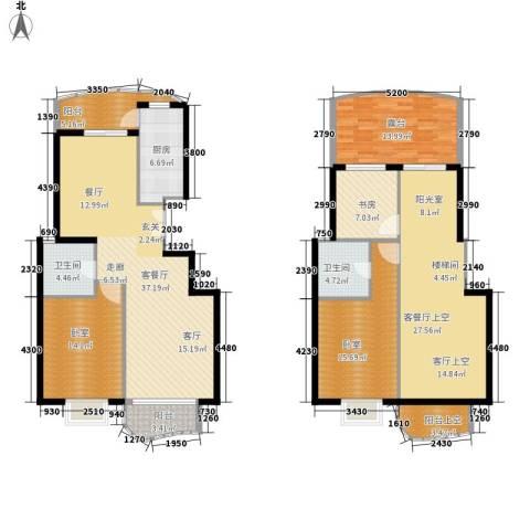 芳草轩1室1厅2卫1厨160.00㎡户型图