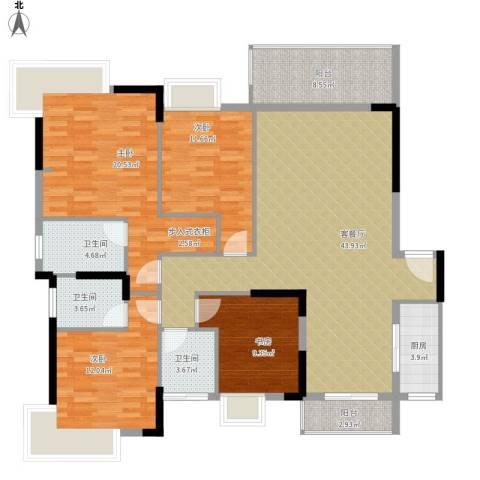 康怡花园4室1厅3卫1厨175.00㎡户型图