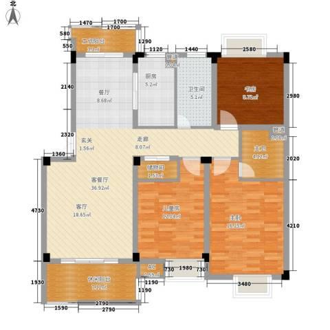 浙水阳光天地3室1厅1卫1厨117.00㎡户型图