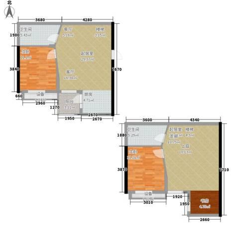滨湖御景湾2室0厅2卫0厨136.00㎡户型图