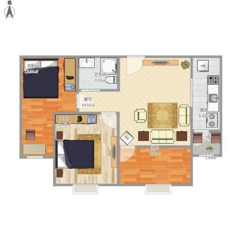 紫金新干线二期3室1厅1卫1厨83.00㎡户型图