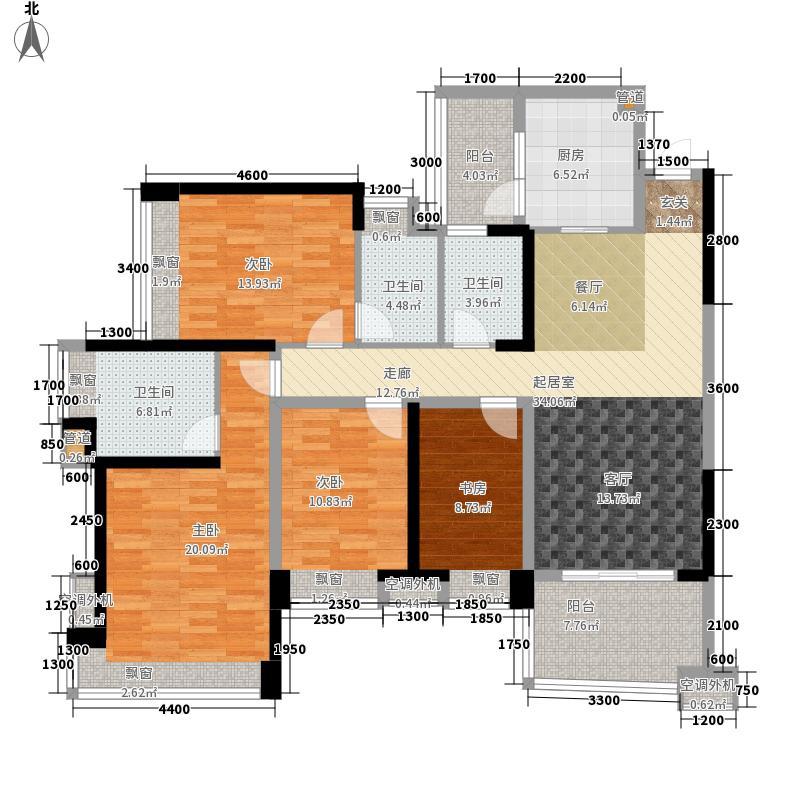 雅居乐国际花园123.00㎡三期42栋面积12300m户型
