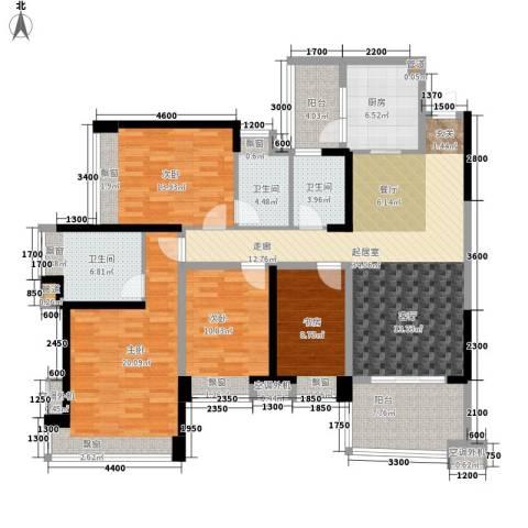 雅居乐国际花园4室0厅3卫1厨123.02㎡户型图