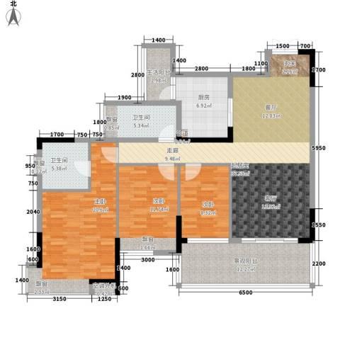雅居乐国际花园3室0厅2卫1厨111.60㎡户型图