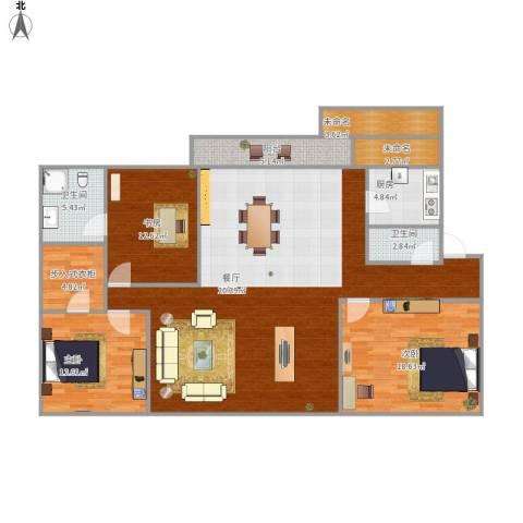 明湖花园3室1厅2卫1厨178.00㎡户型图