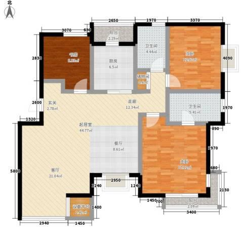 奥林匹克花园3室0厅2卫1厨122.00㎡户型图