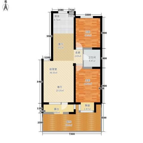 保莱蓝湾国际2室0厅1卫0厨124.00㎡户型图