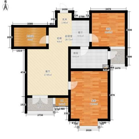 长瀛御龙湾2室0厅1卫1厨110.00㎡户型图