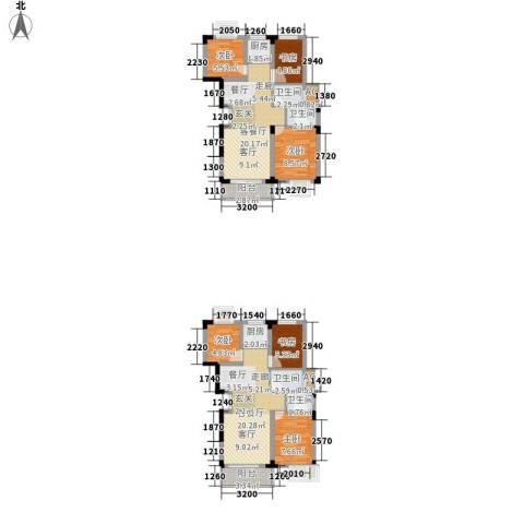 清华苑6室2厅4卫2厨115.00㎡户型图