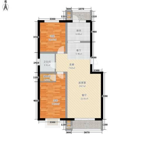 金厦水语花城2室0厅1卫1厨112.00㎡户型图