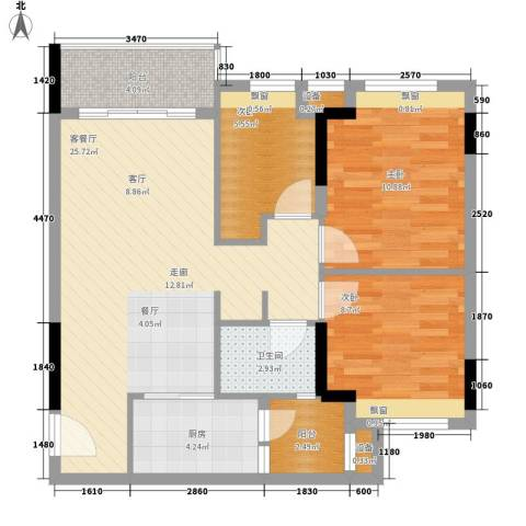 时尚明苑3室1厅1卫1厨82.00㎡户型图