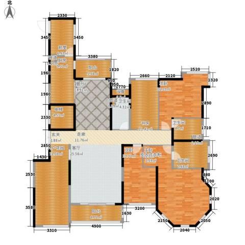 锦绣国际花城4室1厅3卫1厨213.00㎡户型图