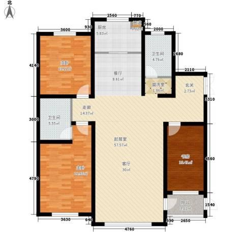华海城3室0厅2卫1厨166.00㎡户型图